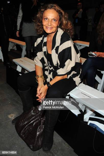 Diane von Furstenberg attends ALEXANDER WANG Spring 2010 Collection at Pier 94 on September 12, 2009 in New York City.
