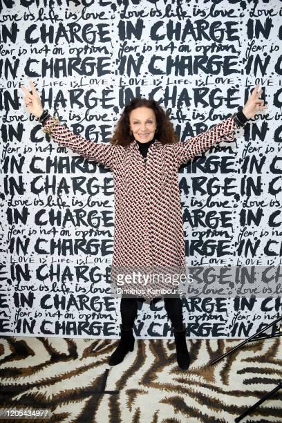Diane von Furstenberg attends Diane Von Furstenberg's InCharge Conversations 2020 Presented by Mastercard on March 06, 2020 in New York City.