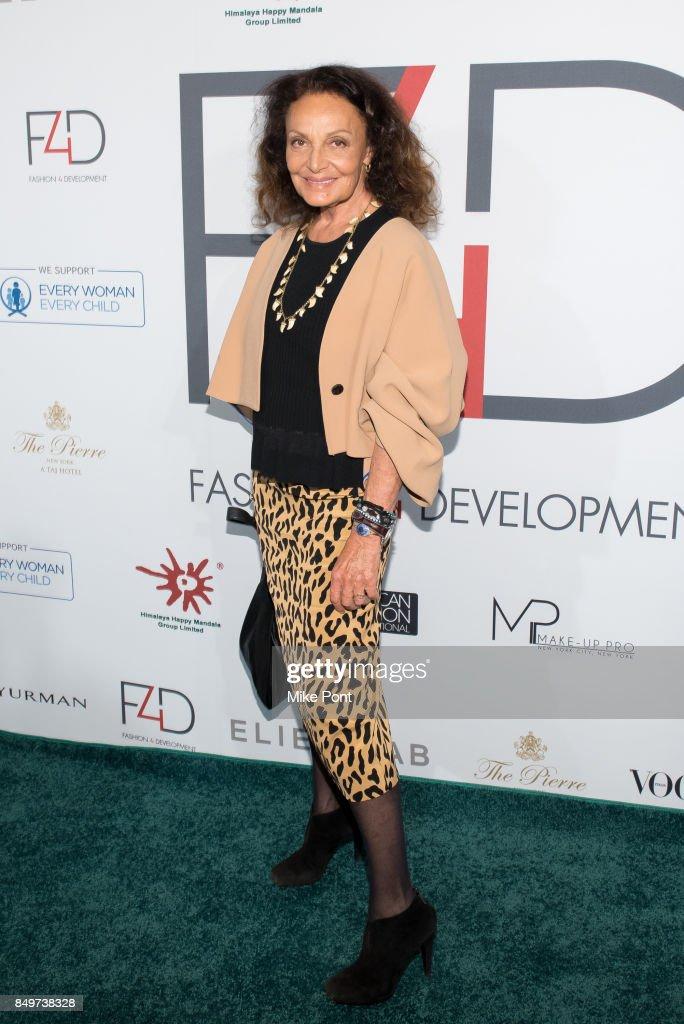 Diane von Furstenberg attends Fashion 4 Development's 7th Annual First Ladies Luncheon at The Pierre Hotel on September 19, 2017 in New York City.
