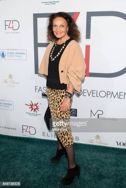 Diane von Furstenberg attends Fashion 4 Development's 7th Annual First Ladies Luncheon at The Pierre Hotel on September 19 2017 in New York City