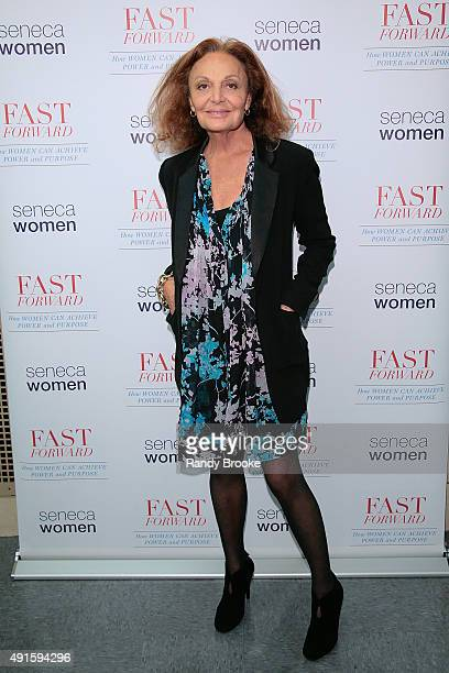Diane von Furstenberg attends Fast Forward How Women Can Achieve Power And Purpose Book Launch Panel at Kaye Playhouse on October 6 2015 in New York...