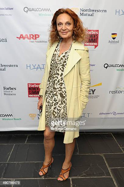 Diane Von Furstenberg attends Forbes Women's SummitThe Entrepreneurship of Everything at 583 Park Avenue on May 15 2014 in New York City