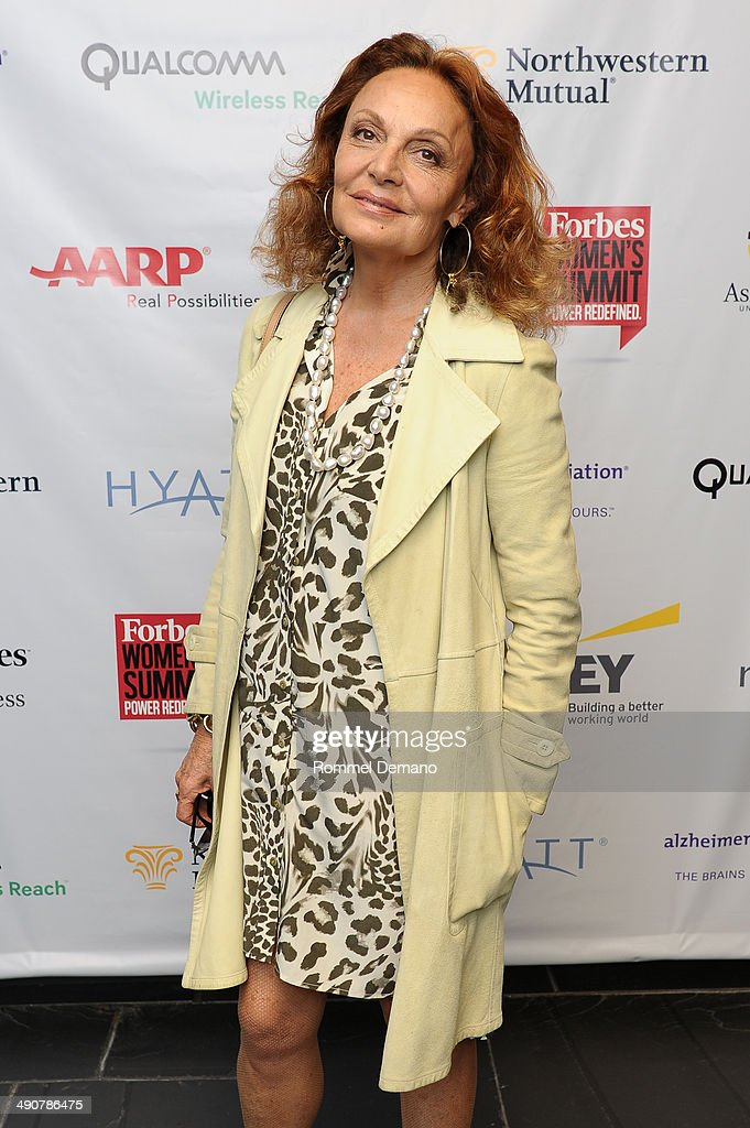 Diane Von Furstenberg attends Forbes Women's Summit:The Entrepreneurship of Everything at 583 Park Avenue on May 15, 2014 in New York City.
