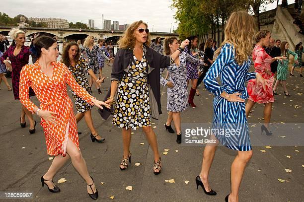 Diane Von Furstenberg attends her New Fragrance Launch on October 5 2011 in Paris France