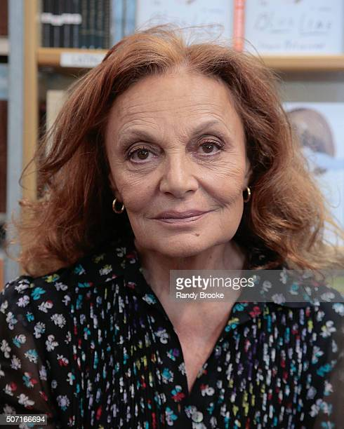 Diane von Furstenberg attends In Conversation Ingrid Betancourt and Diane von Furstenberg at McNally Jackson on January 27 2016 in New York City