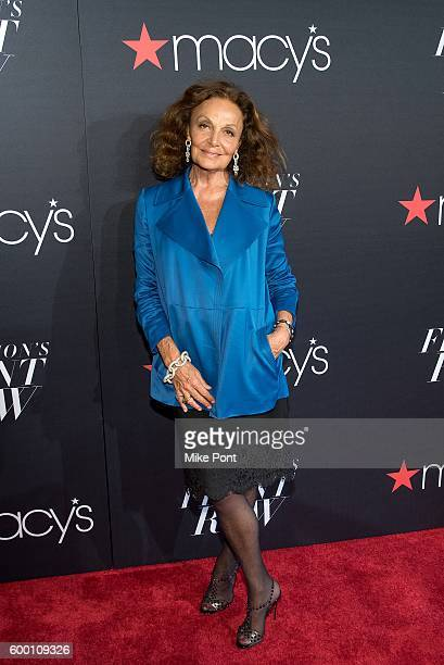Diane von Furstenberg attends Macy's Fashion's Front Row during September 2016 New York Fashion Week at The Theater at Madison Square Garden on...