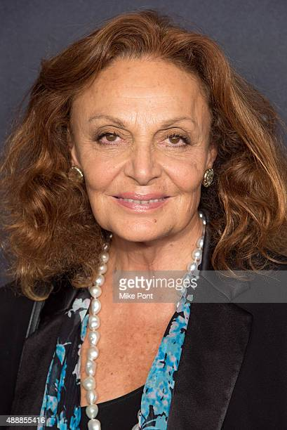 Diane von Furstenberg attends Macy's Presents Fashion's Front Row during Spring 2016 New York Fashion Week at The Theater at Madison Square Garden on...