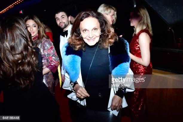 Diane von Furstenberg attends Natalia Vodianova's birthday Vogue Cabaret Party as part of the Paris Fashion Week Womenswear Fall/Winter 2017/2018 on...