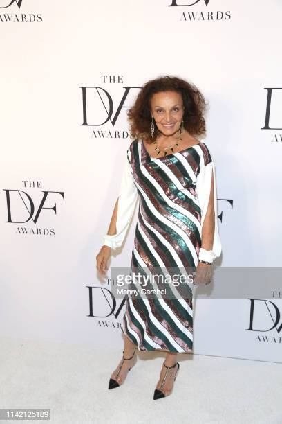 Diane von Furstenberg attends the 10th Annual DVF Awards at Brooklyn Museum on April 11 2019 in New York City