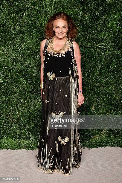 Diane von Furstenberg attends the 12th annual CFDA/Vogue Fashion Fund Awards at Spring Studios on November 2 2015 in New York City