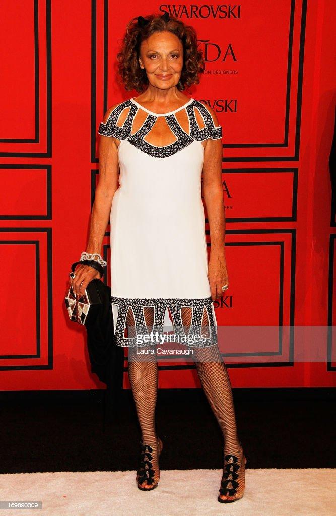 Diane von Furstenberg attends the 2013 CFDA Fashion Awards on June 3, 2013 in New York, United States.