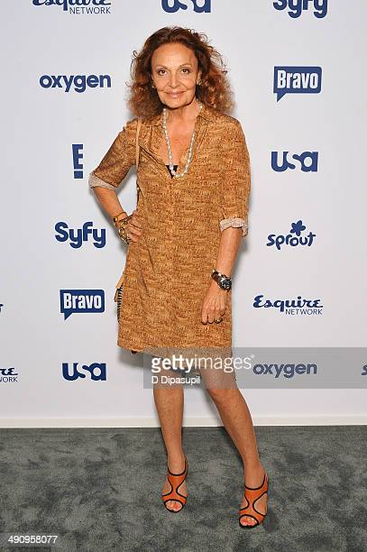 Diane von Furstenberg attends the 2014 NBCUniversal Cable Entertainment Upfronts at The Jacob K. Javits Convention Center on May 15, 2014 in New York...