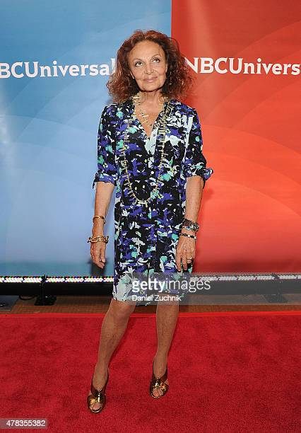 Diane Von Furstenberg attends the 2015 NBC New York Summer Press Day at Four Seasons Hotel New York on June 24 2015 in New York City