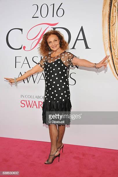 Diane von Furstenberg attends the 2016 CFDA Fashion Awards at the Hammerstein Ballroom on June 6 2016 in New York City