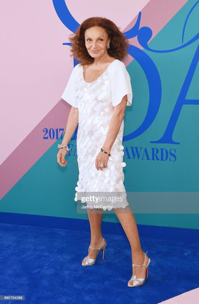 Diane von Furstenberg attends the 2017 CFDA Fashion Awards at Hammerstein Ballroom on June 5, 2017 in New York City.