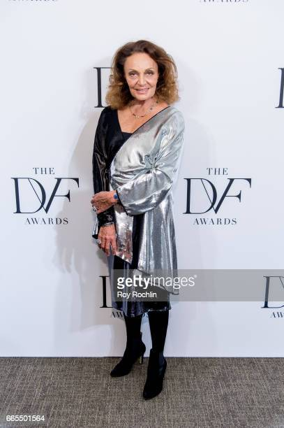 Diane von Furstenberg attends the 2017 DVF Awards at United Nations on April 6 2017 in New York City
