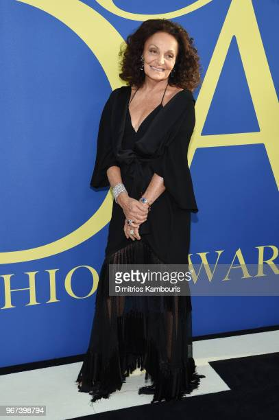 Diane von Furstenberg attends the 2018 CFDA Fashion Awards at Brooklyn Museum on June 4 2018 in New York City