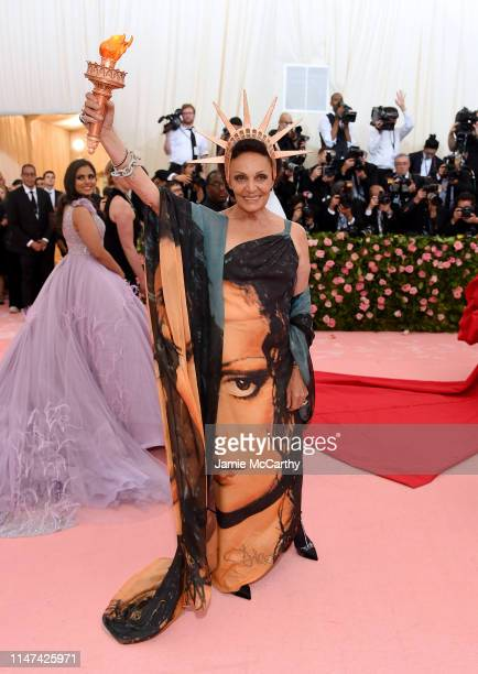 Diane von Furstenberg attends The 2019 Met Gala Celebrating Camp Notes on Fashion at Metropolitan Museum of Art on May 06 2019 in New York City