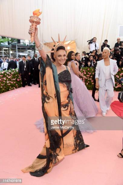 Diane von Furstenberg attends The 2019 Met Gala Celebrating Camp: Notes on Fashion at Metropolitan Museum of Art on May 06, 2019 in New York City.