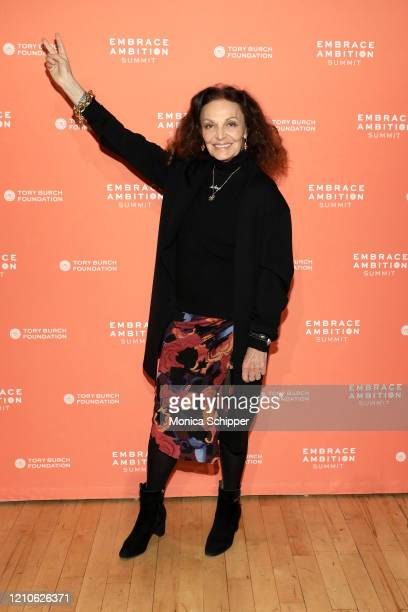 Diane von Furstenberg attends the 2020 Embrace Ambition Summit by the Tory Burch Foundation at Jazz at Lincoln Center on March 05, 2020 in New York...