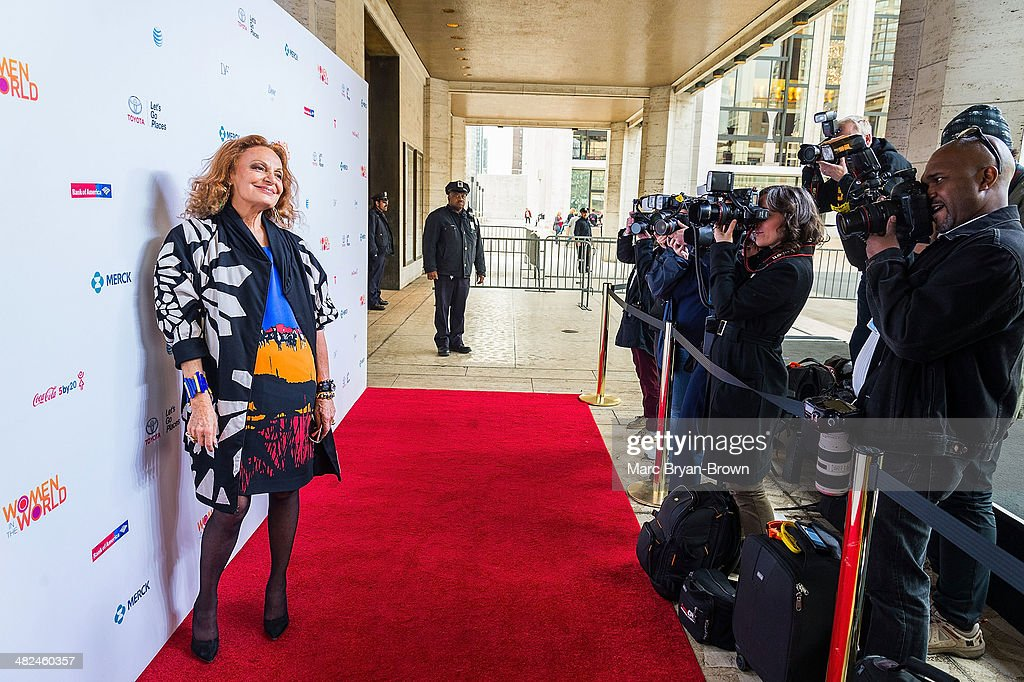 Diane Von Furstenberg attends the 5th Annual Women In The World Summit at David H. Koch Theater, Lincoln Center on April 3, 2014 in New York City.