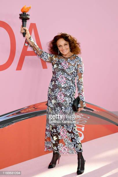 Diane Von Furstenberg attends the CFDA Fashion Awards at the Brooklyn Museum of Art on June 03, 2019 in New York City.