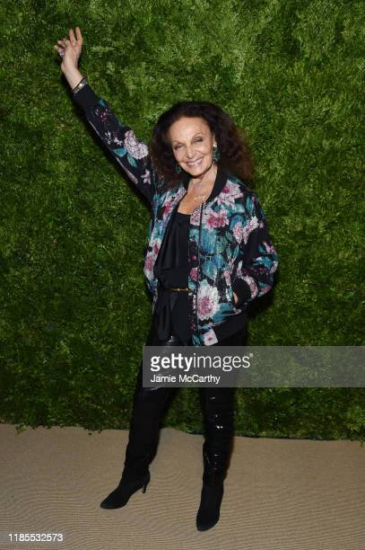 Diane von Furstenberg attends the CFDA / Vogue Fashion Fund 2019 Awards at Cipriani South Street on November 04 2019 in New York City