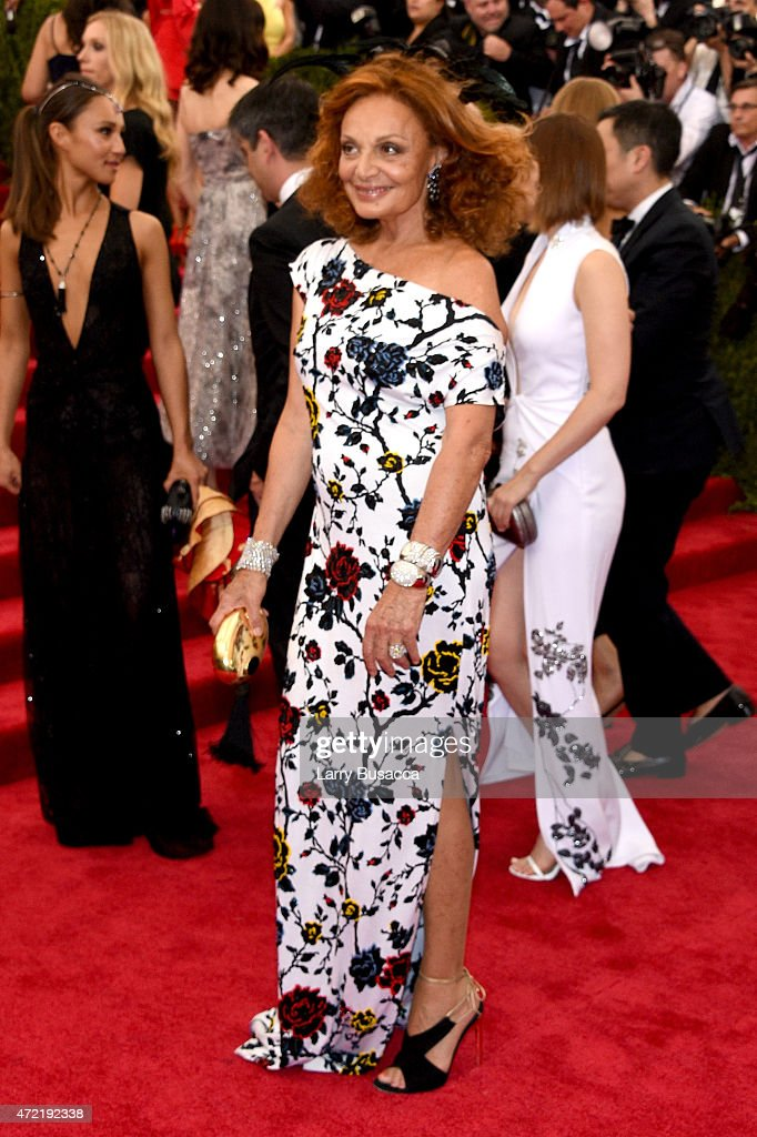 Diane Von Furstenberg attends the 'China: Through The Looking Glass' Costume Institute Benefit Gala at the Metropolitan Museum of Art on May 4, 2015 in New York City.