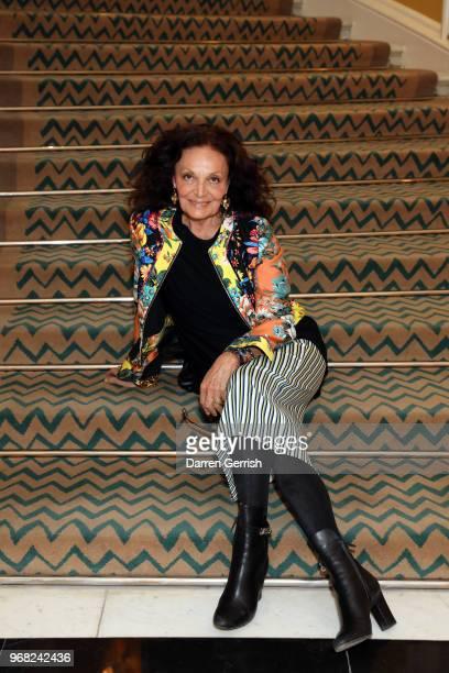 Diane von Furstenberg attends the Diane von Furstenberg lunch at Claridge's Hotel on June 6 2018 in London England