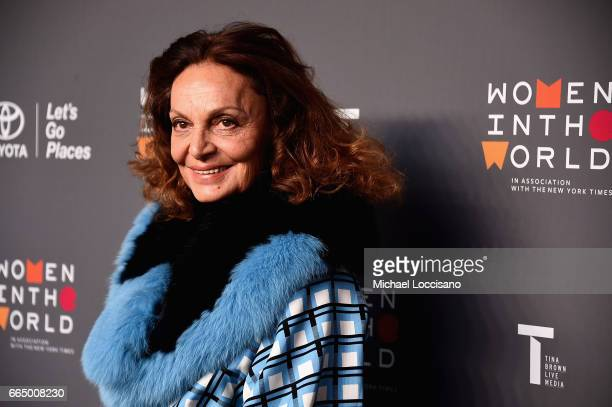 Diane Von Furstenberg attends the Eighth Annual Women In The World Summit at Lincoln Center for the Performing Arts on April 5 2017 in New York City