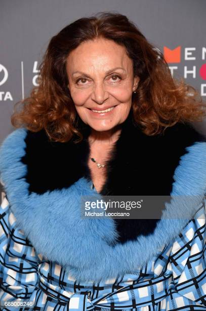 Diane Von Furstenberg attends the Eighth Annual Women In The World Summit at Lincoln Center for the Performing Arts on April 5, 2017 in New York City.