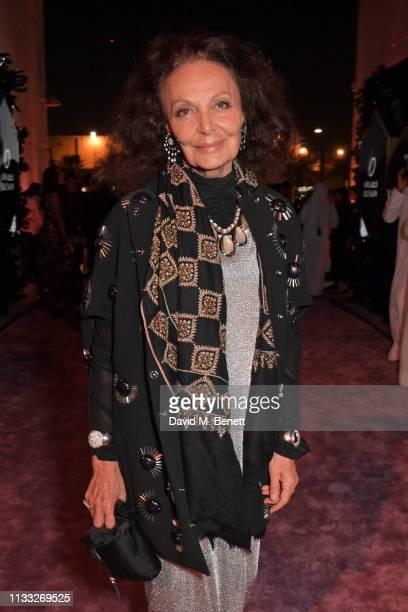 Diane von Furstenberg attends the Fashion Trust Arabia Prize awards ceremony on March 28, 2019 in Doha, Qatar.