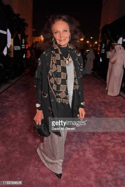 Diane von Furstenberg attends the Fashion Trust Arabia Prize awards ceremony on March 28, 2019 in Doha, Qatar.