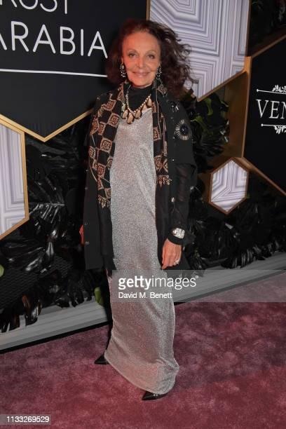 Diane von Furstenberg attends the Fashion Trust Arabia Prize awards ceremony on March 28 2019 in Doha Qatar