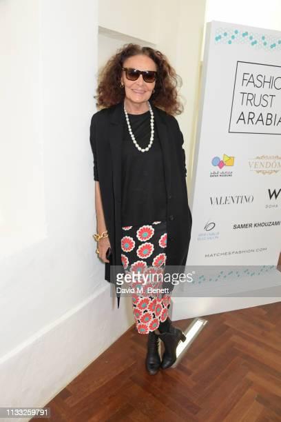 Diane von Furstenberg attends the Fashion Trust Arabia Prize Judging Day on March 28, 2019 in Doha, Qatar.