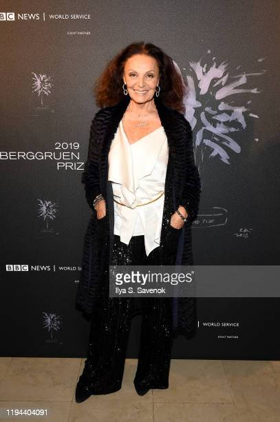 Diane von Furstenberg attends the Fourth Annual Berggruen Prize Gala celebrating 2019 Laureate Supreme Court Justice Ruth Bader Ginsburg in New York...