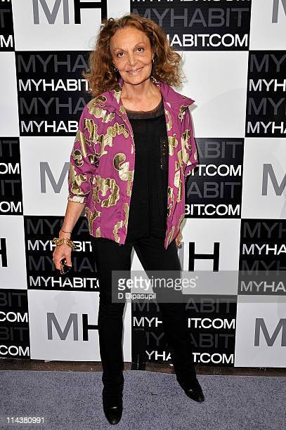 Diane von Furstenberg attends the launch of MYHABITcom at Skylight West on May 18 2011 in New York City