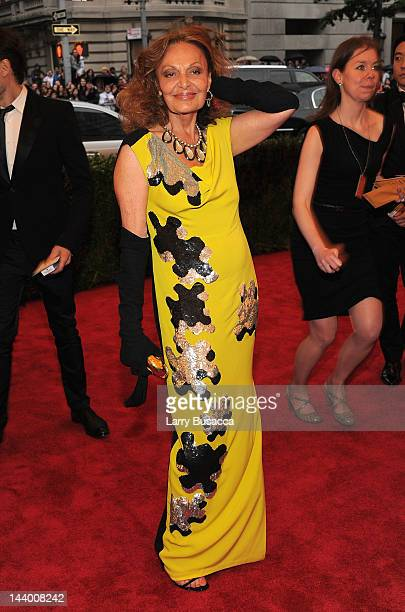 Diane von Furstenberg attends the 'Schiaparelli And Prada Impossible Conversations' Costume Institute Gala at the Metropolitan Museum of Art on May 7...