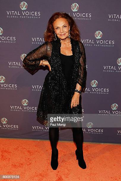 Diane von Furstenberg attends the Vital Voices Solidarity Awards at IAC Building on December 7 2015 in New York City