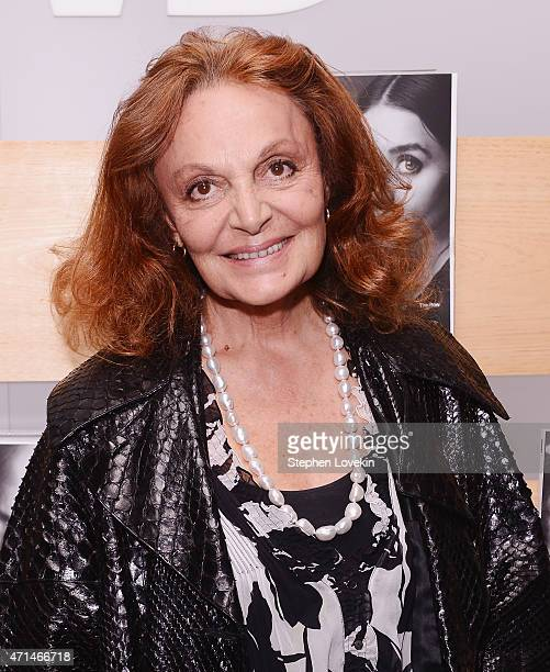 Diane von Furstenberg attends the WWD Relaunch Party at The NoMad Hotel on April 28 2015 in New York City