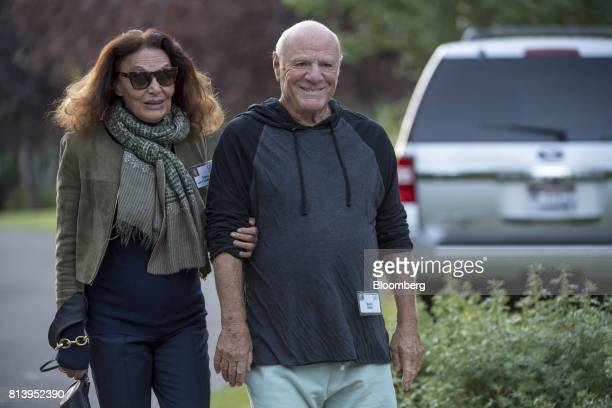Diane Von Furstenberg chairman and founder of Diane Von Furstenberg Studio LP left and Barry Diller chairman and chief executive officer of...