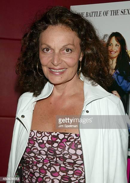 Diane Von Furstenberg during Jet Lag Premiere New York at Bryant Park Screening Room in New York City New York United States