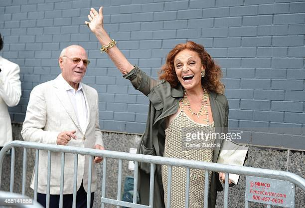 Diane von Furstenberg is seen outside the DVF show on September 13 2015 in New York City