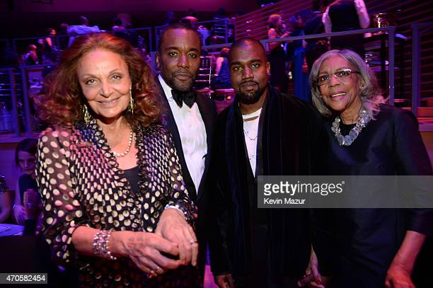 Diane von Furstenberg Lee Daniels and Kanye West attend TIME 100 Gala TIME's 100 Most Influential People In The World at Jazz at Lincoln Center on...