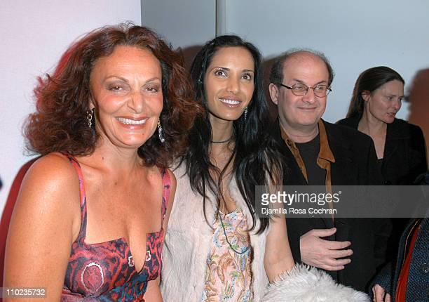 Diane Von Furstenberg Padma LakshmiRushdie and Salman Rushdie
