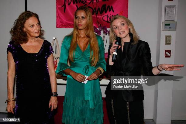 Diane von Furstenberg Panmela CastroAnarkia and Alyse Nelson attend DIANE von FURSTENBERG celebrates INTERNATIONAL WOMEN'S DAY with 'PROUD TO BE...