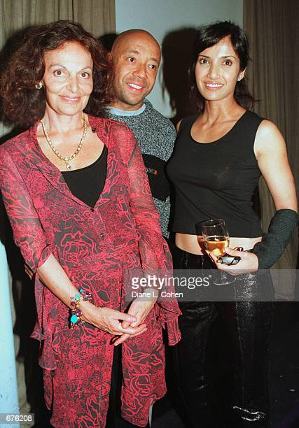 Diane Von Furstenberg Russell Simmons and Padma Lakshmi Salman Rushdie's girlfriend attend an evening of Art Beauty and Love at Diane Von...