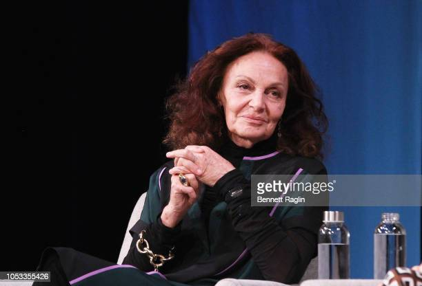 Diane Von Furstenberg speaks onstage during Pioneers With Purpose Entrepreneurship and Empowerment With the Founders of Bumble and DVF during day 3...