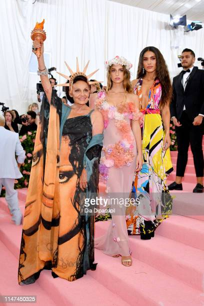 Diane von Furstenberg, Talita Von Furstenberg and Camila Coelho attend The 2019 Met Gala Celebrating Camp: Notes on Fashion at Metropolitan Museum of...