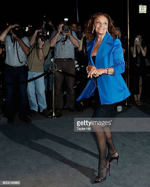 Diane von Furstenburg attends the Tom Ford Fall 2016 fashion show during New York Fashion Week September 2016 at The Four Seasons on September 7 2016...